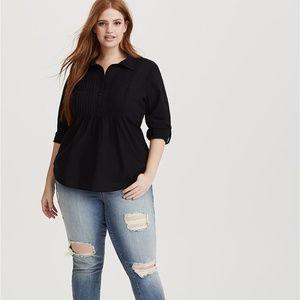 Torrid pintuck poplin blouse 2x